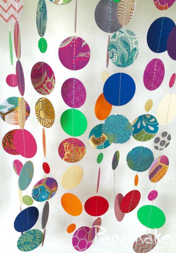 Bollywood Boho Shimmer and Shine Party Garland by PaperKake on Etsy