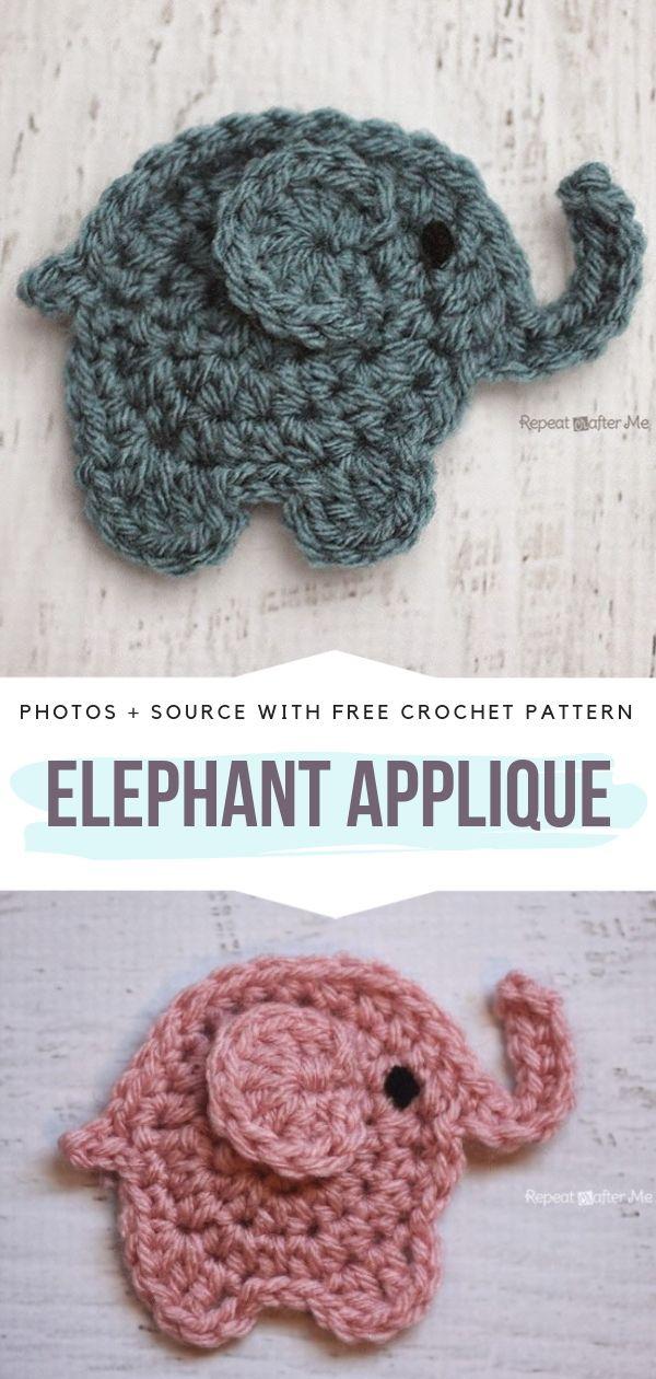 Fun Animal Appliques Free Crochet Patterns