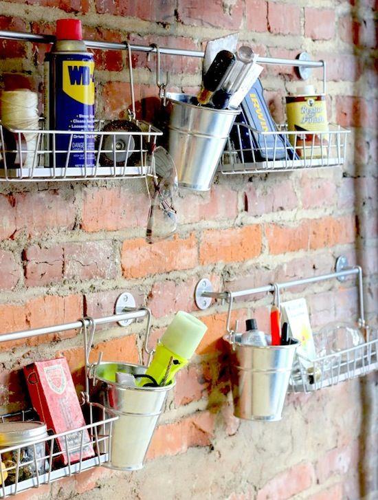 14 Ways To Organize With S Hooks Garage Organization Diy Ikea Hack Hanging Basket Storage