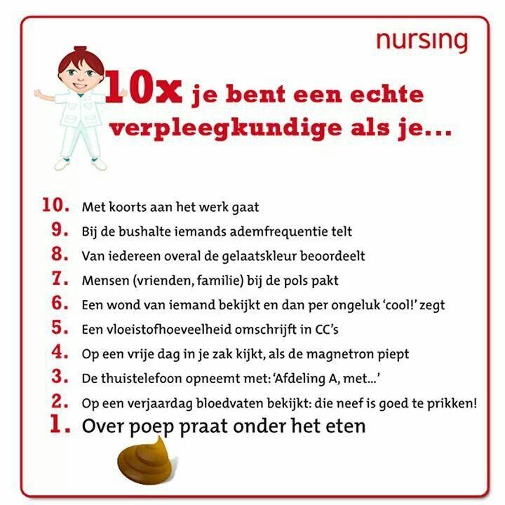 verpleegkundige spreuken Je bent een verpleegkundige als | examen   Nurse quotes, Nurse  verpleegkundige spreuken