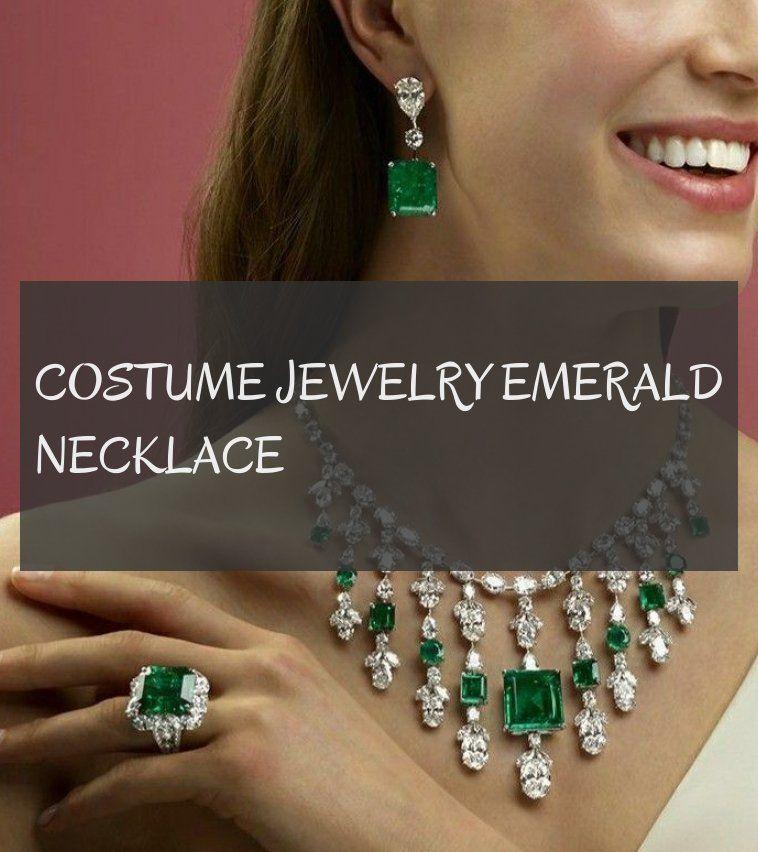 costume jewelry emerald necklace