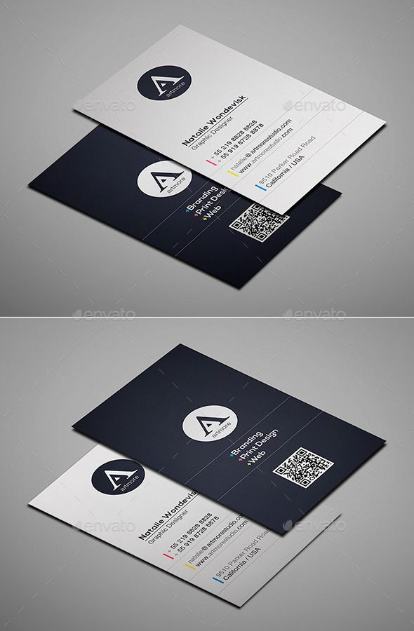 Simple Business Card Vol I Graphic Design Business Card Simple Business Cards Business Card Design Minimal