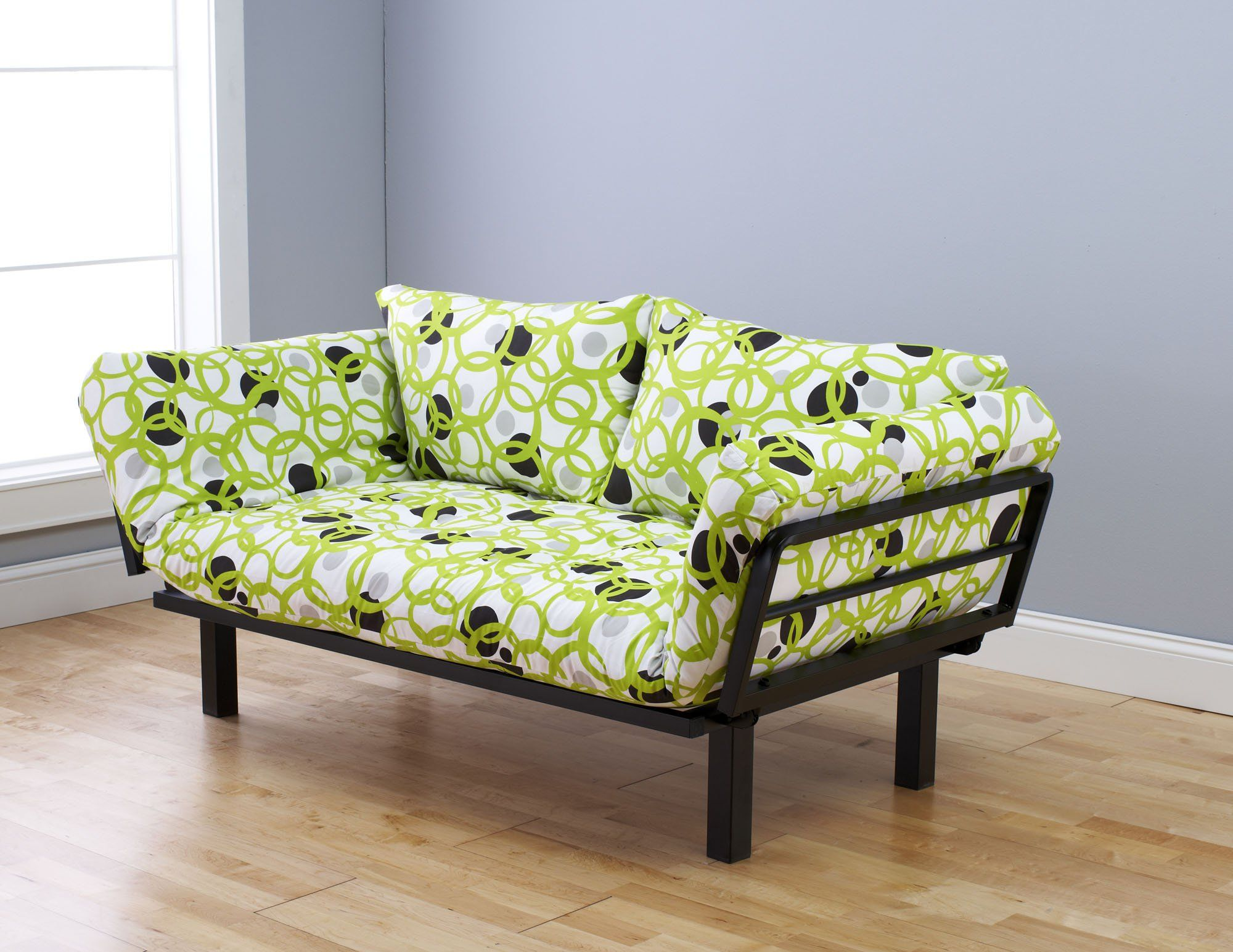 Spacely Futon Daybed/Lounger with Mattress Full Circle by