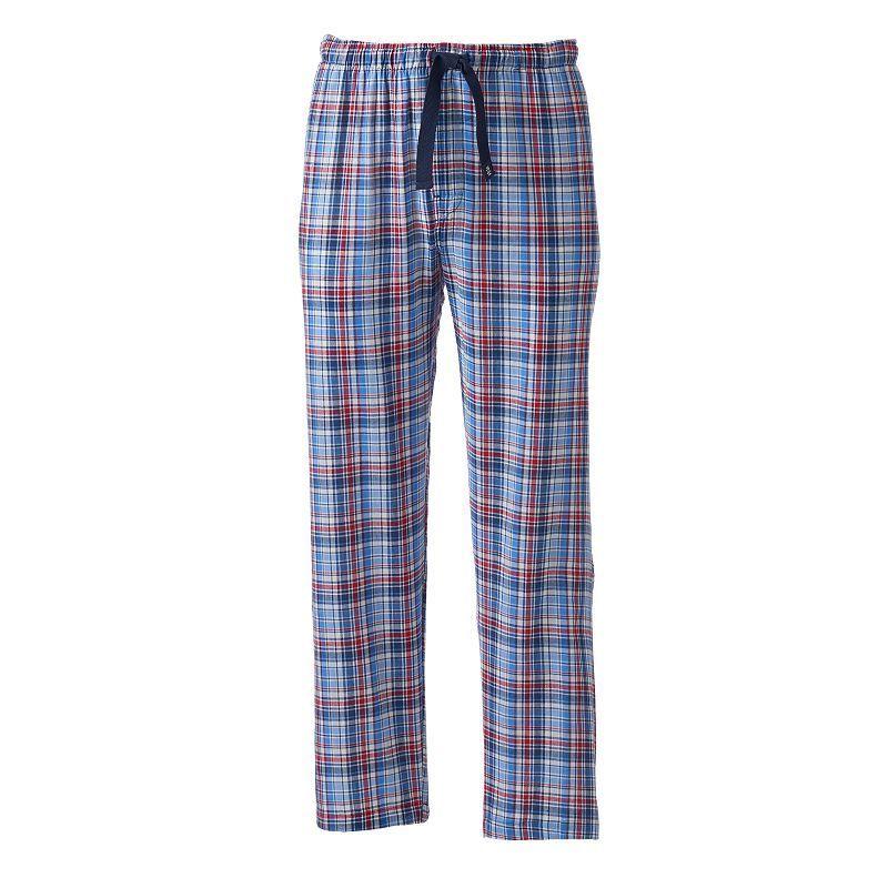 Men's IZOD Plaid Lounge Pants, Size: Medium, Med Blue