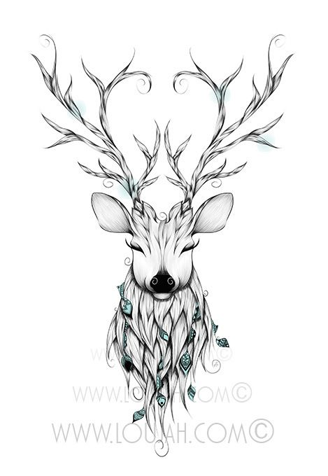 2018 年の loujah poetic deer art illustration draw drawing