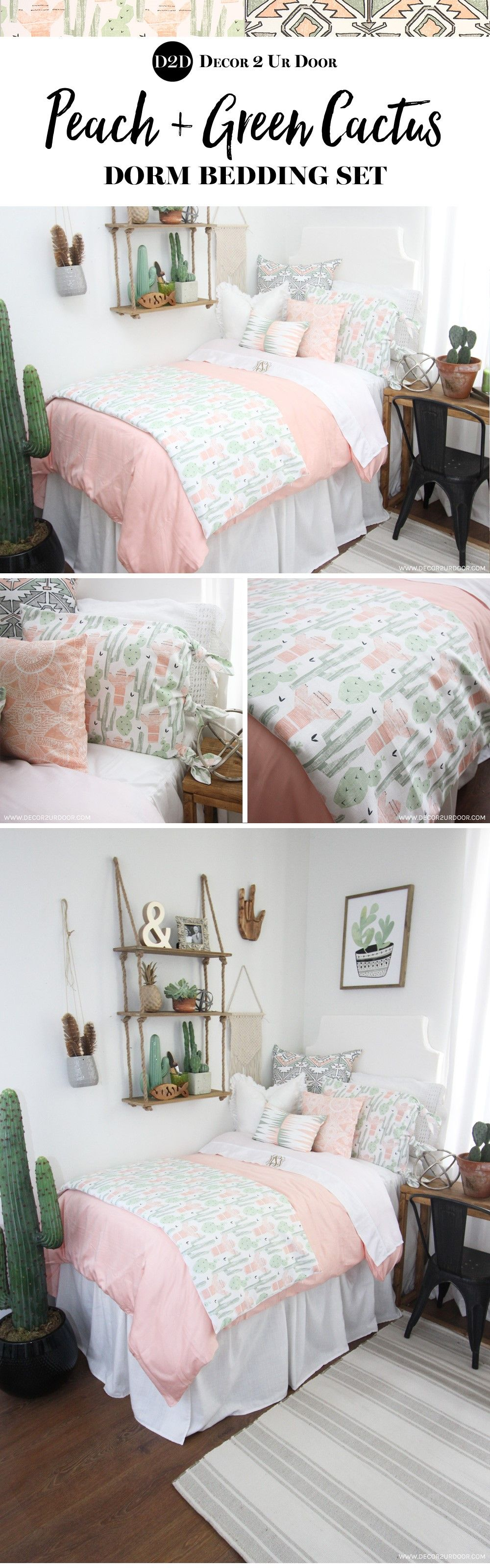 Trendy Cactus Dorm Room How Much Do You Love This Cactus Motif Inspired Dorm Bedding