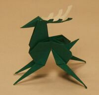 Origami reindeer tutorial http://www.zen-of-origami.org/