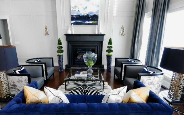 Couleur bleu : comment peut-on la marier ?   Salons, Living rooms ...