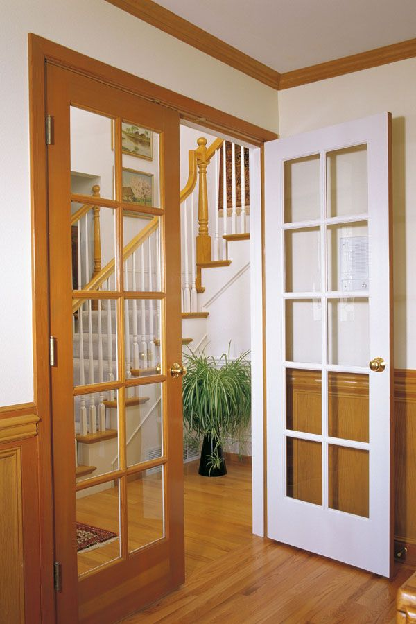 Fir And Painted 10 Lite French Doors 625