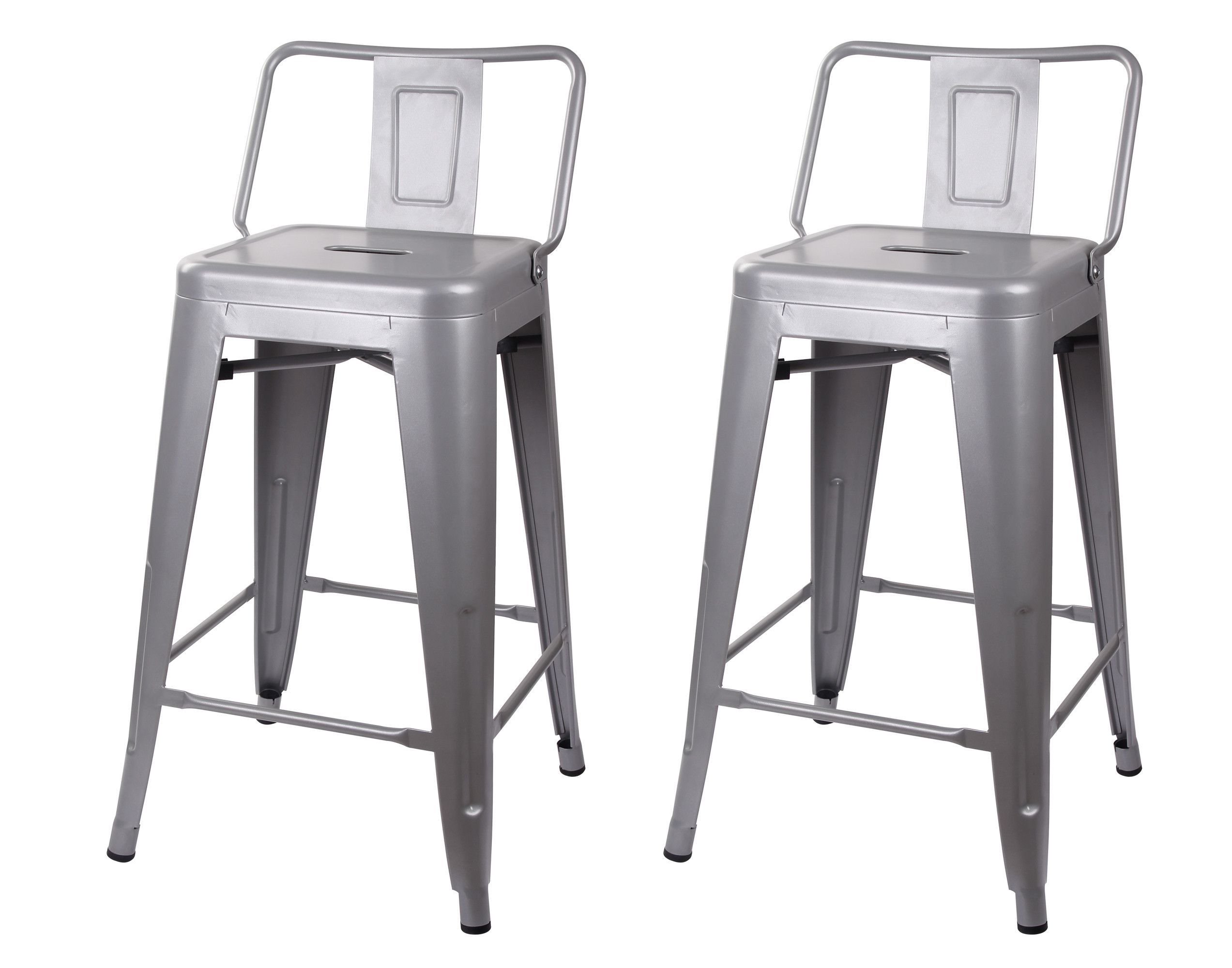 Gia Low Back Metal Barstool 24 Matte Black And Products