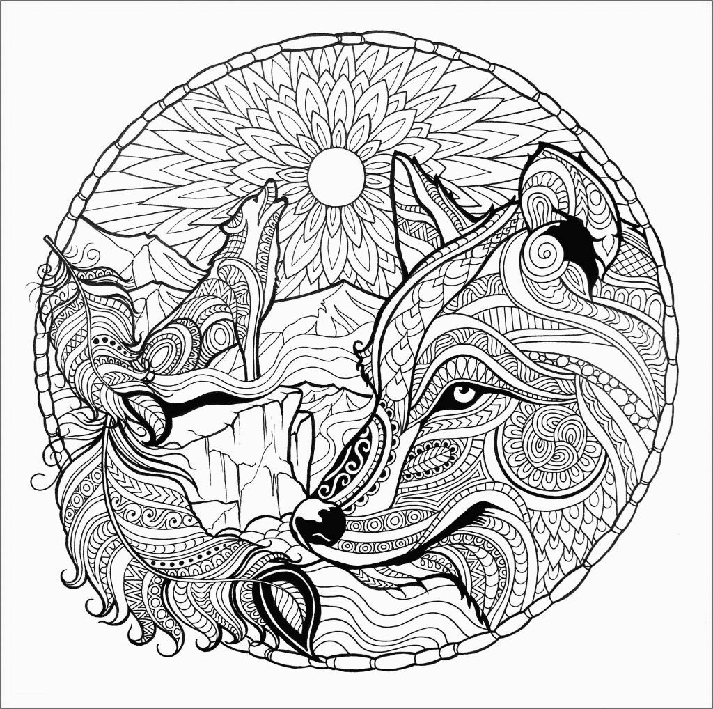 Wolf Coloring Pages For Adults Best Coloring Pages For Kids Fox Coloring Page Mandala Coloring Pages Wolf Colors