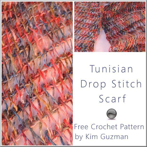 New Free Crochet Pattern Tunisian Drop Stitch Scarf Crochet