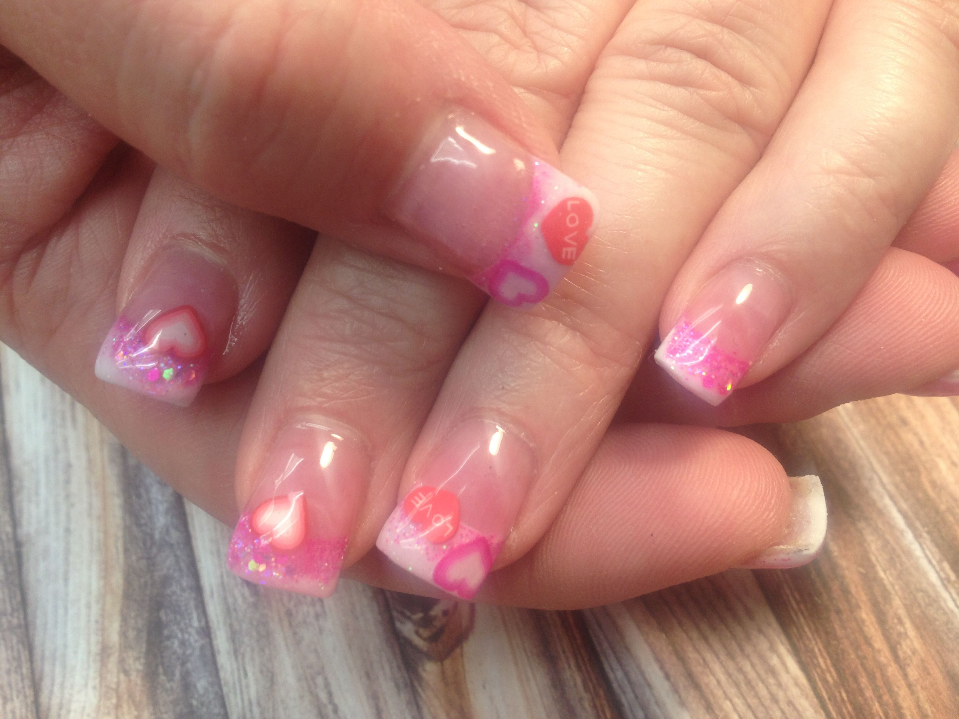 Valentine nails | Nails by Emily Zahm | Pinterest | Funky nails and ...