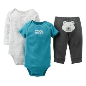 Carter S Polar Bear Turn Me Around Bodysuit Set Baby Carter S
