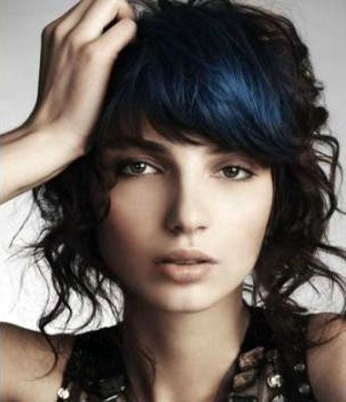 Dark blue hair color ideas bangs ladies blue hair pinterest dark blue hair color ideas bangs pmusecretfo Images