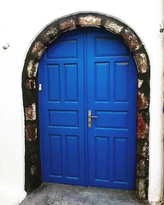 Door Photography, Santorini Doors print, blue door wall art Blue traditional Greek door wall art, nautical wall decor, digital download | Front door, Navy decor, Entrance door design