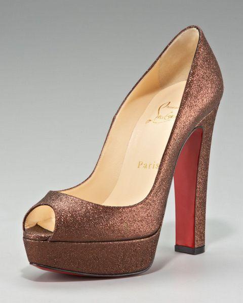 15fae3cca6c Christian Louboutin Glittered Thick-Heel Platform Pump