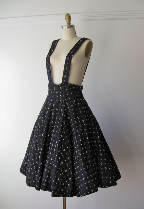 4651806b vintage 1940s suspender skirt -- Great sewing inspiration... I just wish it  was still for sale!