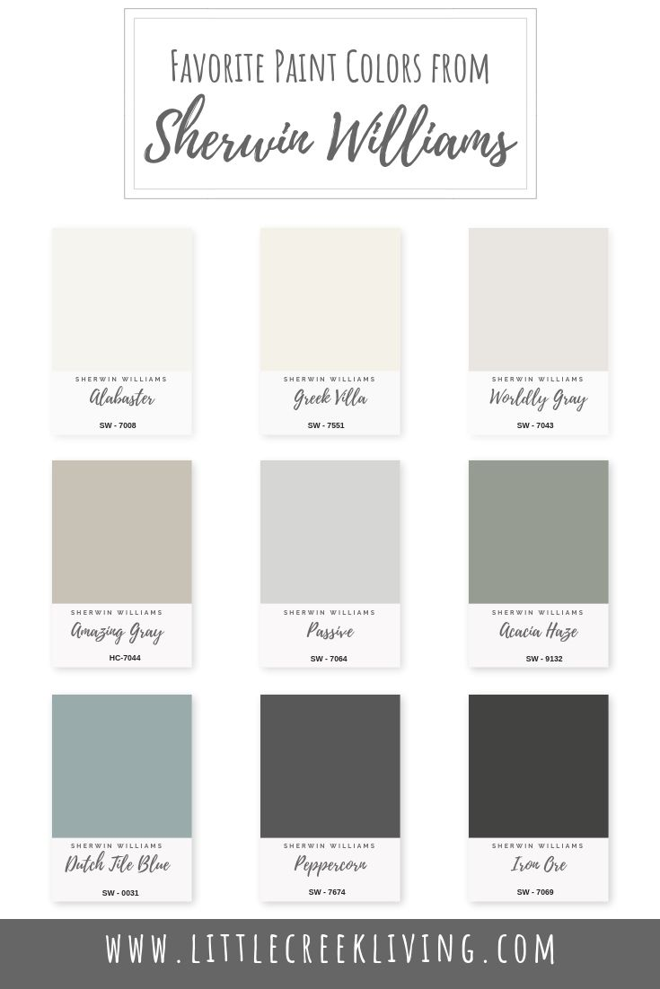 One of my most asked questions as a designer is about  paint.  Since Sherwin Williams is having their 40% off sale on paints and stains, I wanted to share a few of my tried and true favorite Sherwin William paint colors.   Alabaster (SW 7008) – Alabaster is a beautiful pure white.  It creates a … #purewhite