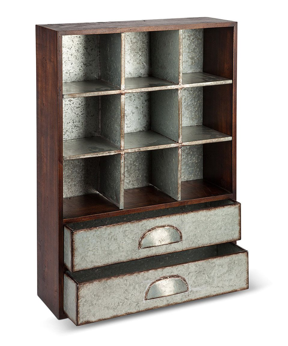 take a look at this rustic galvanized metal wood storage unit rh pinterest de