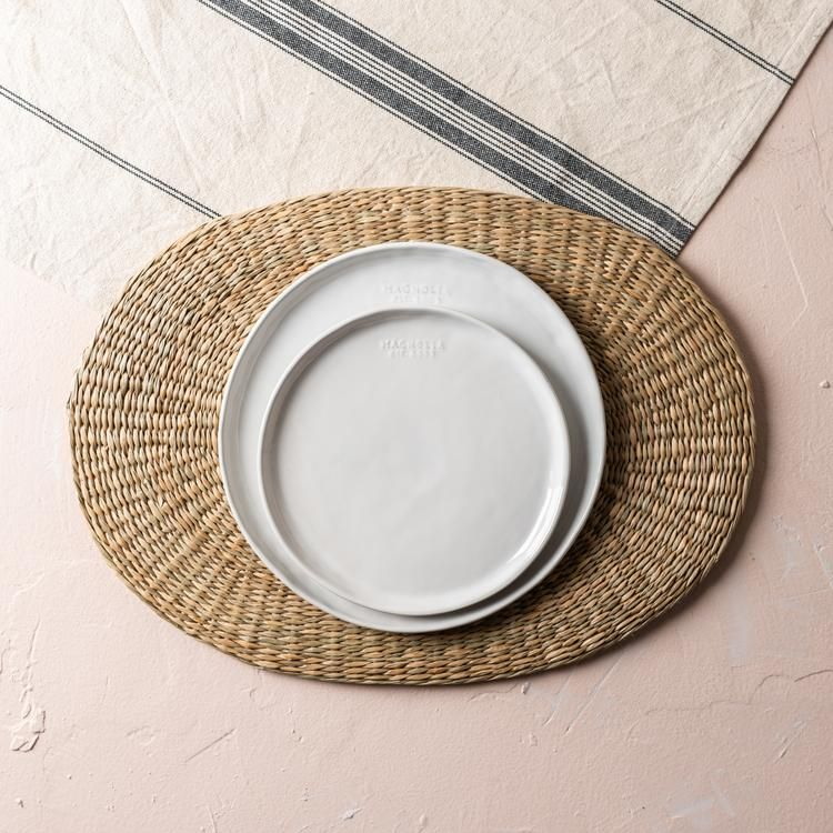 Seagrass Oval Double Sided Placemat Kitchen Placemats Placemats Hot Plates