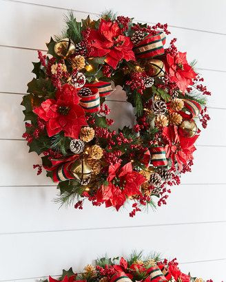 Outdoor Lighted Wreath Pleasing Beautiful Christmas Decor Wreathlove The Colorsindoor Or Outdoor Decorating Inspiration