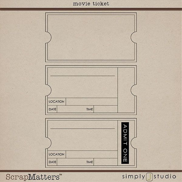 movie ticket template | Social Club | Pinterest | Ticket template ...