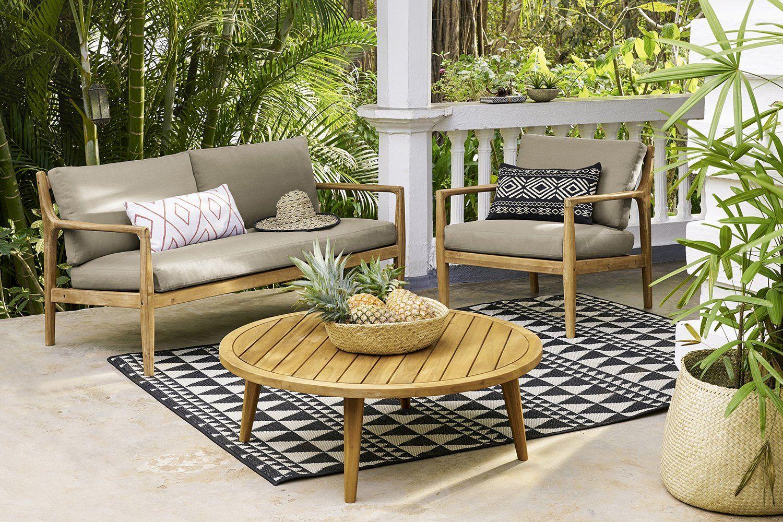 salon de jardin en bois Maisons du Monde | terrasses | Pinterest