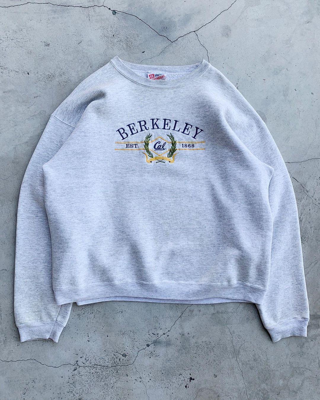Unsound Rags On Instagram Vintage Cal Berkeley Crewneck Sweatshirt Crew Neck Sweatshirt Sweatshirts Graphic Sweatshirt [ 1350 x 1080 Pixel ]