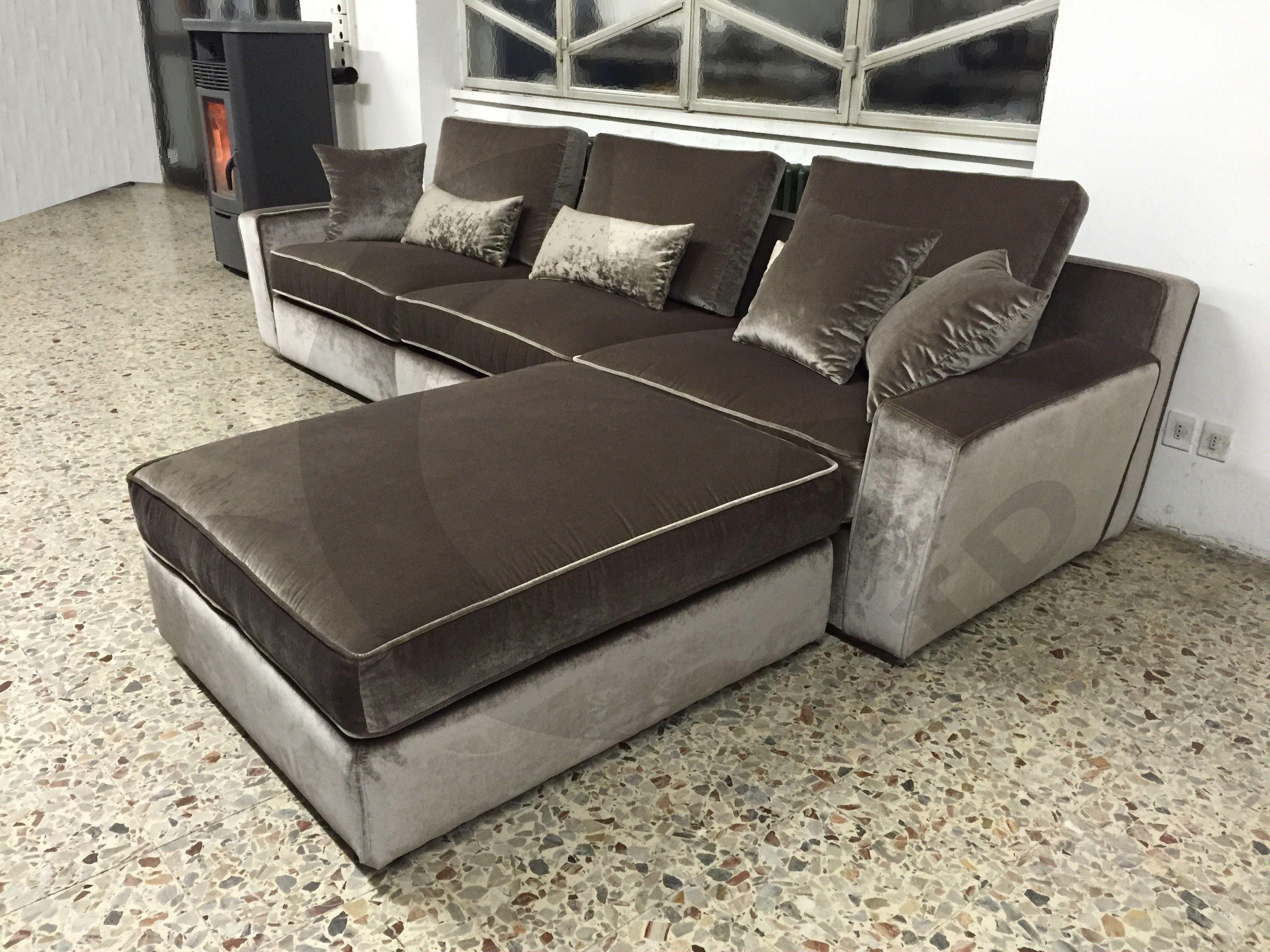 Divano Velluto ~ Divano su misura in velluto grigio cegidsas mobilier