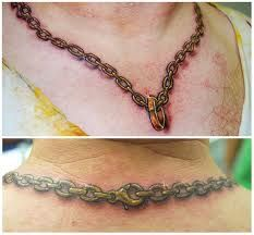 Chain Tattoo Designs Ideas Meanings Chain Tattoo Necklace Tattoo Chain