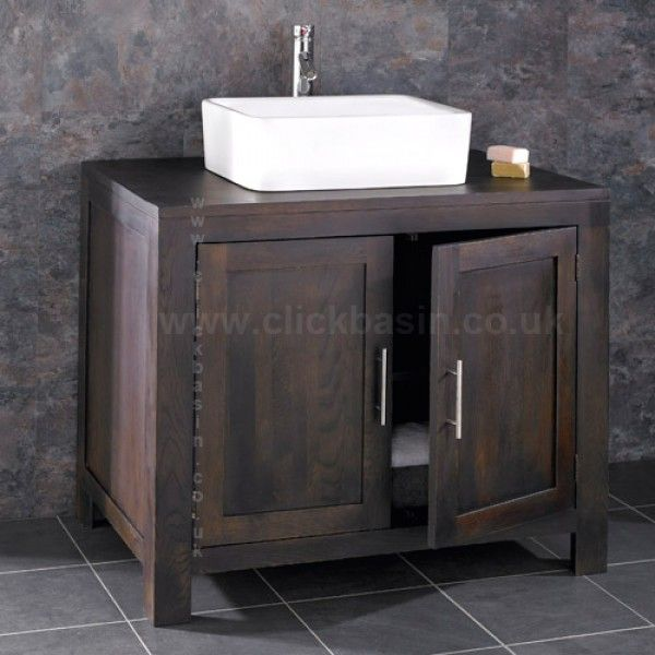 Alta Solid WENGE Oak Wide Double Door Bathroom Vanity Unit Is Handmade From  Solid Oak U2013 Means Itu0027s A Sturdy Unit Thatu0027s Sure To Stand The Test Of Time.