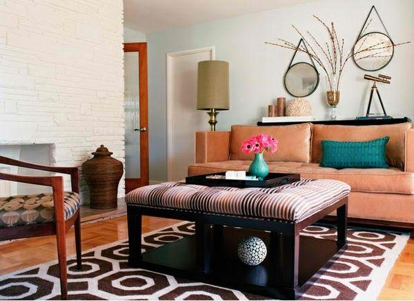 Wohnzimmergestaltung modern ~ Wohnzimmergestaltung runde rustikale wandspiegel homedesign