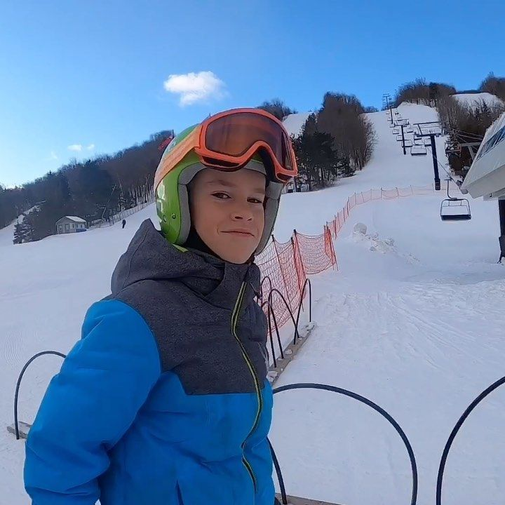 Ski day with my little brother! . . . . #ski #gopro #goprohero8 #winter #snow #beautifulday #exercis...