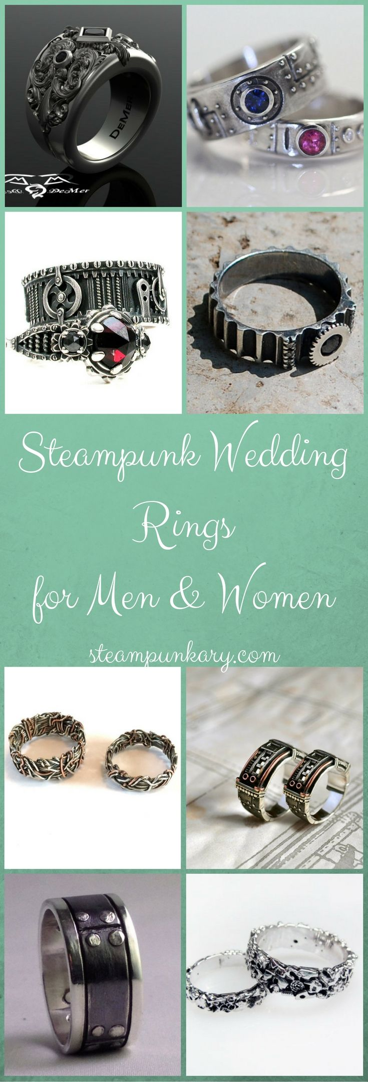 steampunk wedding rings for men and women steampunk wedding ring