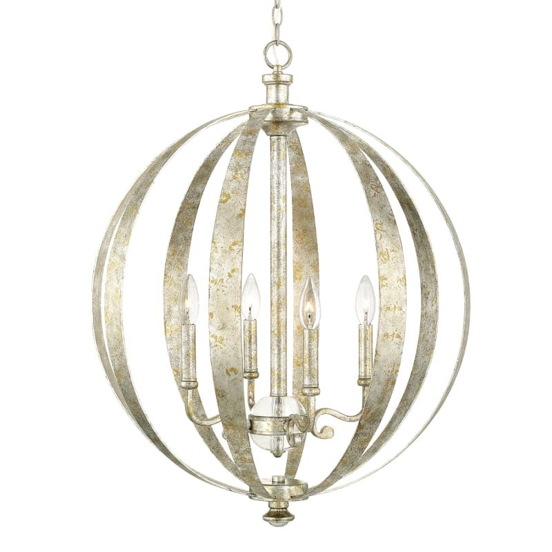 Horchow Gold Orbit 6 Light Chandelier
