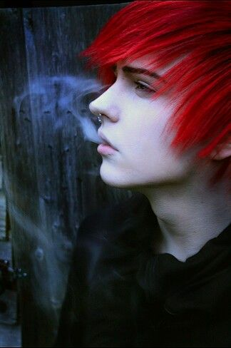 How To Dye Hair Red Possible Characters Males Pinterest Emo