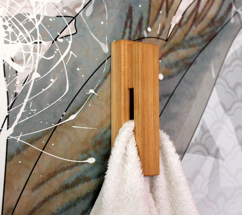 Wood Wall Hook Cherry Towel Holder Bathroom Hooks For