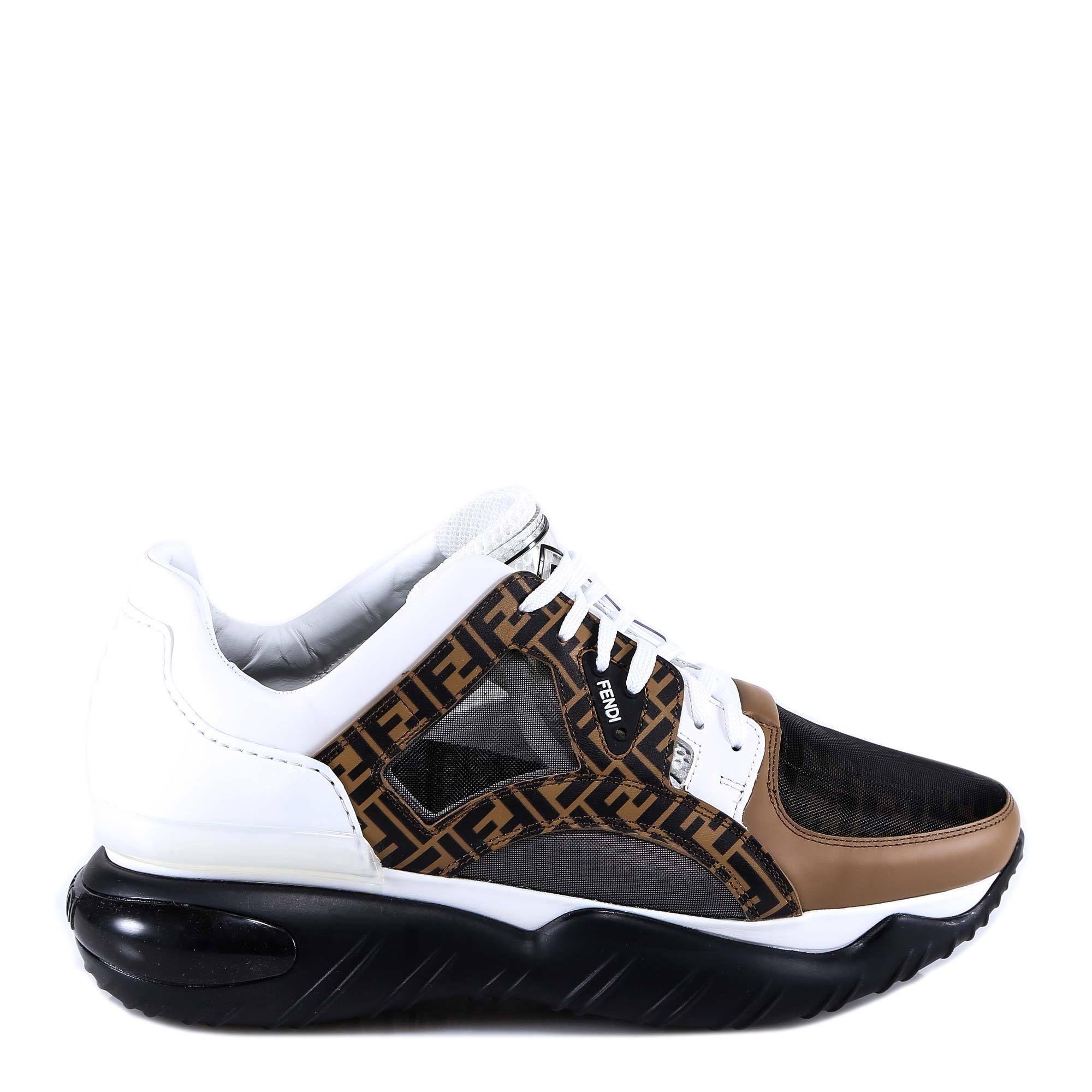 e90650610d FENDI FENDI FF MONOGRAM SNEAKERS. #fendi #shoes   Fendi in 2019 ...