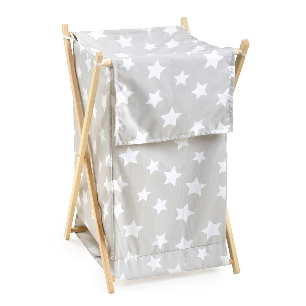 Grey White Star Hamper Hamper Kids Storage Bins Baby Laundry