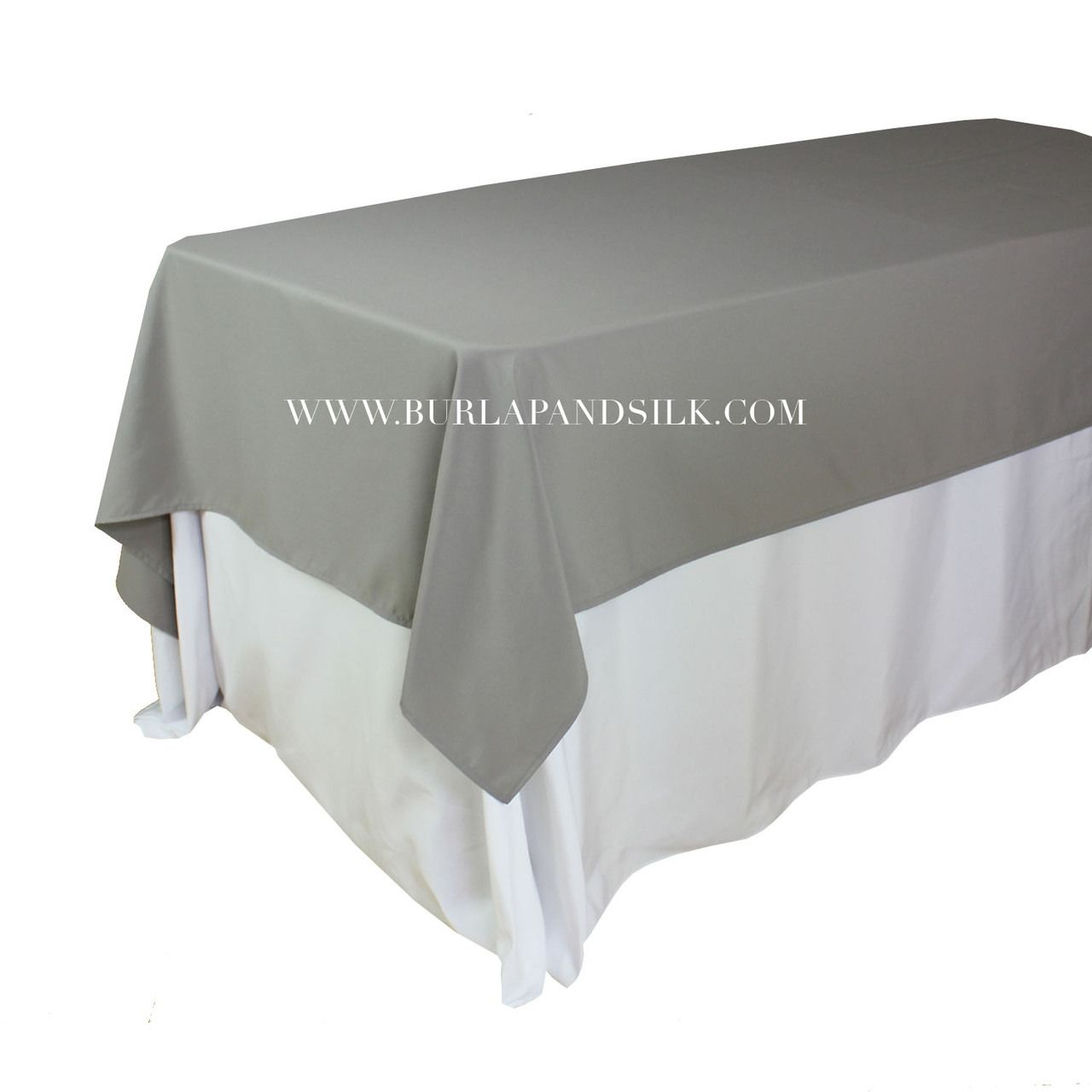 60 X 102 Inches Rectangular Gray Tablecloth Http Www