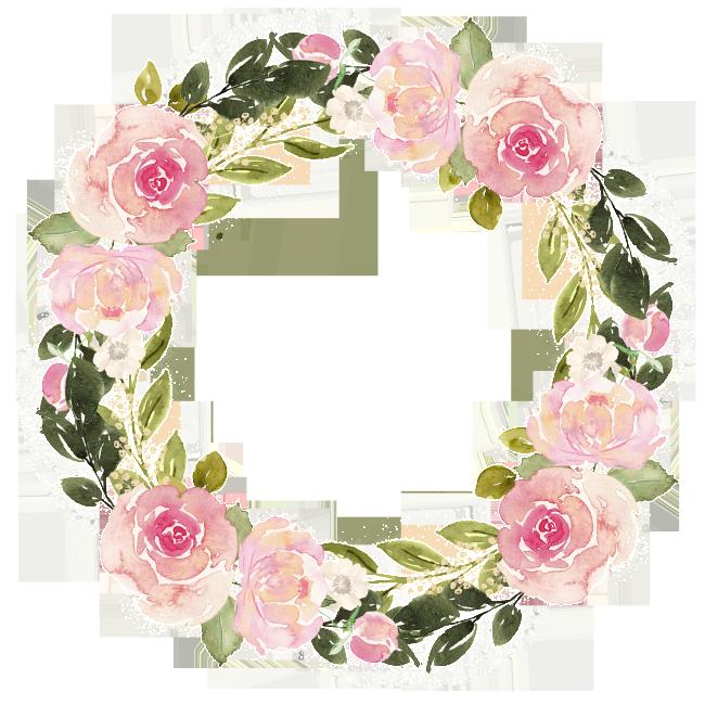 Watercolor Flower Wreath Free Matting Material Watercolor Flower Wreath Wreath Watercolor Free Watercolor Flowers