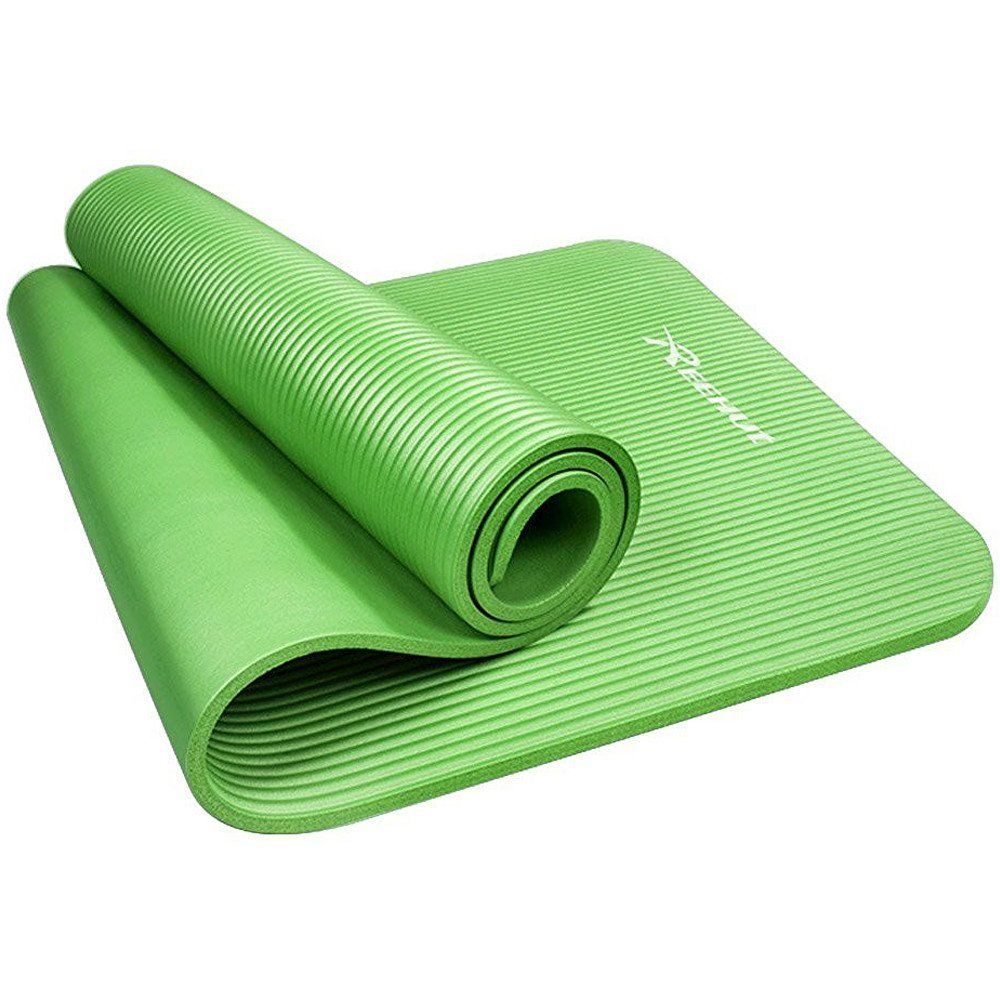 Amazon Com Reehut 1 2 Inch Extra Thick High Density Nbr Exercise Yoga Mat For Pilates Fitness Workout W Carrying Strap Gre Katrina Guest Room Yoga