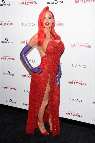 Celebrity Halloween 2020 Jessica Rabbit 37 best celebrity Halloween costumes of all time   Best celebrity