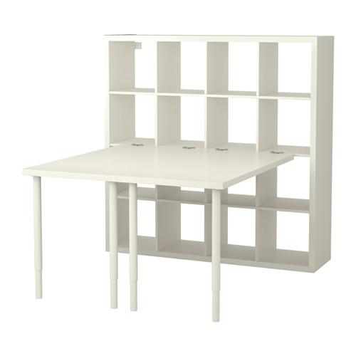 KALLAX Bordkombinasjon - hvit - IKEA