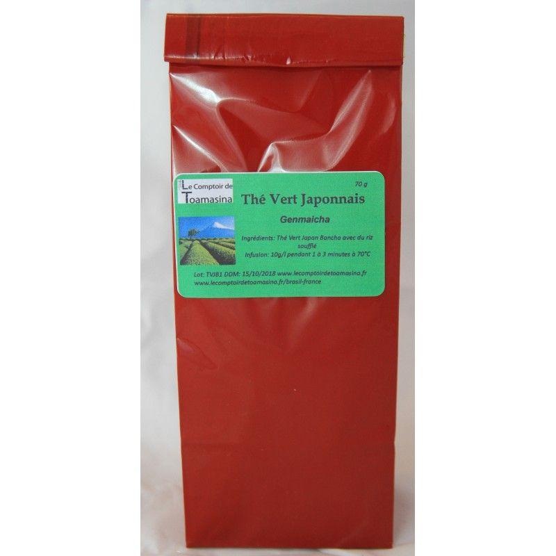 Le thé vert japonnais Genmaicha est un thé vert au riz marron. Le Genmaicha à des notes végétales fraîches qui vont s'associer à celles du riz brun.
