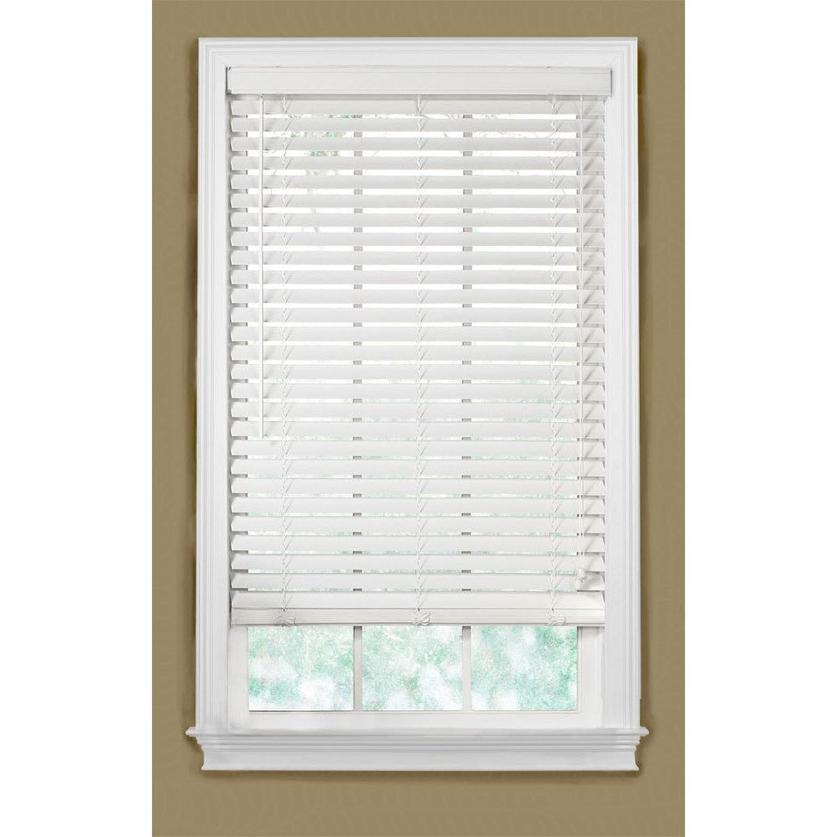 Basswood inch white wood blinds