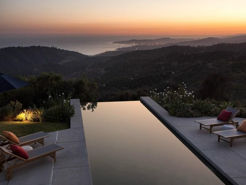 Somewhere In Montecito Ca This Pool Patio With Views Of