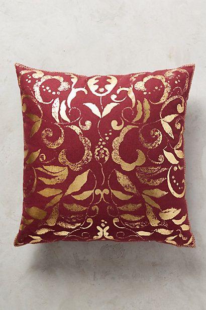 Adeliza Gilt Pillow #anthropologie