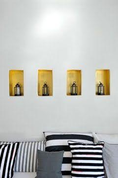 niches peintes